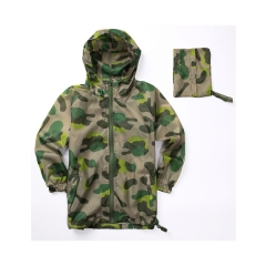 Camo kids packable  rainwear